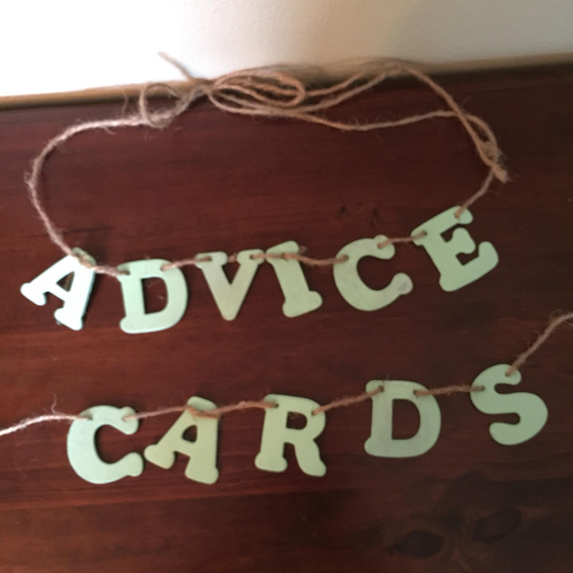 Advice and Cards Banner