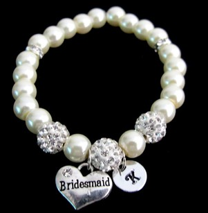 Bridesmaid Pearl Bracelet,personalized Bridesmaid Bracelet Bridesmaid