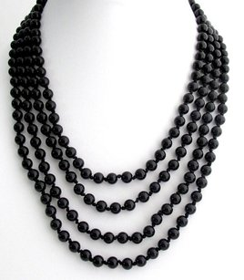 Black Pearl 100 Inches Long Necklace Hand Knotted Pearl Necklace Multi