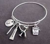 Dental Hygienist Bangle Dental Bracelet Dentist Charm Bracelet Dentist