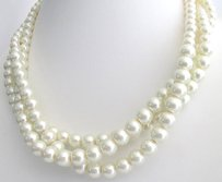 White Pearl Necklace White Pearl Multi Strand Statement Necklace Birda