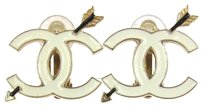 Chanel CHANEL Vintage CC Logos Earrings Gold-Tone Clip-On Accessories