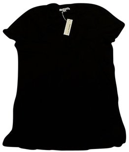 James Perse Vee Casual T Cotton T Shirt Black