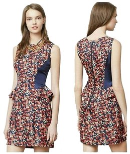 Anthropologie Ruffled Flora Shift By Dress