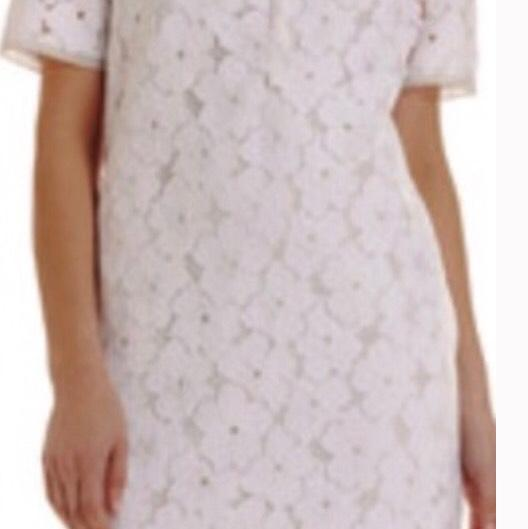 &428 DVF White floral Lace Tunic Dress