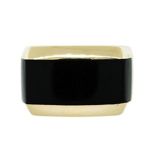 18kt Yellow Gold Mens Onyx Ring