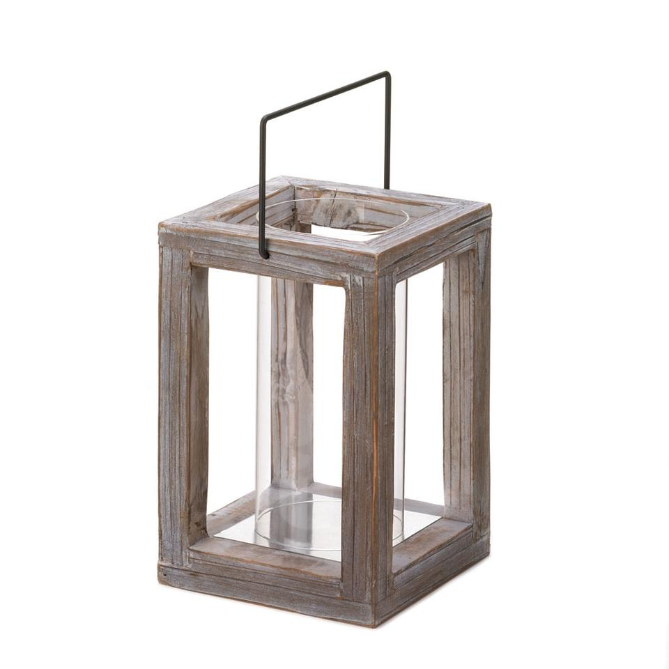 10 Distressed Rustic Wood Candle Holder Lanterns Tradesy