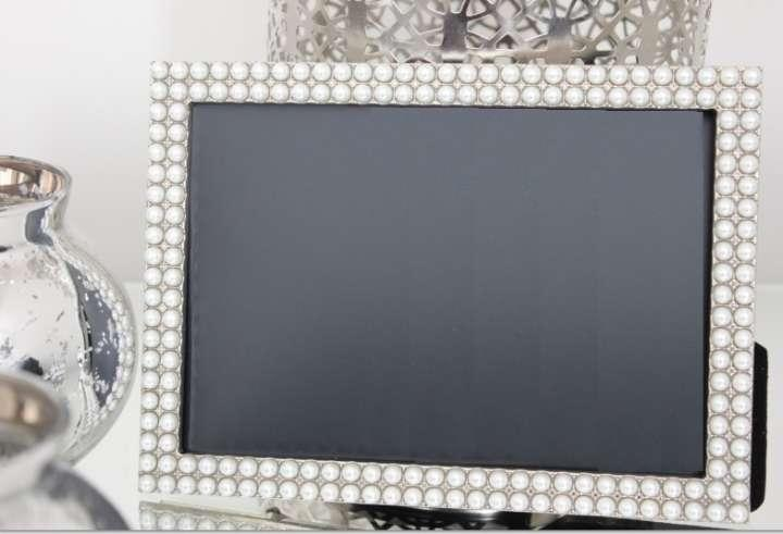 10 pearl frames photo table numbers 4x6 vintage style jeweled