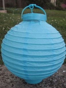 10 Tiffany Blue Aqua Blue Turquoise Paper Lanterns Battery Operated 8