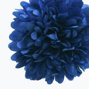 12 Navy Blue Tissue Pom Poms Flower Kissing Balls Pomanders 14