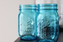24 Aqua Blue Ball Mason Jars Turquoise