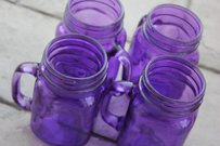 24 Purple Mason Jar Mugs Tumblers Mug Glasses