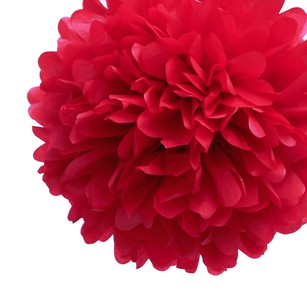 24 Red Tissue Pom Poms Flower Kissing Balls Pomanders 14