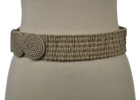 3.1 Phillip Lim 3.1 Phillip Lim Womens Beige Textured Belt Width Stretchy Casual