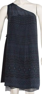 3.1 Phillip Lim short dress Blue Black Silk Dotted One 0 Hs1860 on Tradesy