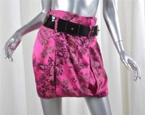 3.1 Phillip Lim Womens Paisley Floral Satin Belted Pleated Pencil Skirt Pink