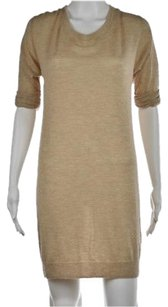3.1 Phillip Lim short dress Multi-Color Womens Tan Sweater Speckled Above Knee Cashmere on Tradesy