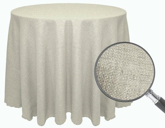Burlap Linens Ivory Burlap Round Table Overlays Tablecloth