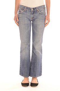 7 For All Mankind Wash Denim Boot Cut Jeans