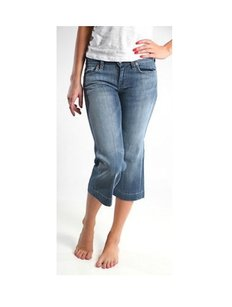 7 For All Mankind Denim Classic Capri/Cropped Denim-Medium Wash
