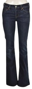7 For All Mankind Womens Blue Dark Wash Cotton Pants Casual Flare Leg Jeans