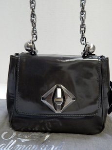 7 For All Mankind Seven Rt Deep Patent Leather Chain Cross Body Bag