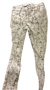 7 For All Mankind Skinny Pants Ivory Beige