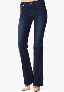 7 For All Mankind Slim Illusion Boot Cut Jeans-Dark Rinse