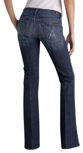 7 For All Mankind Stretchy Denim Classic Flare Leg Jeans-Dark Rinse