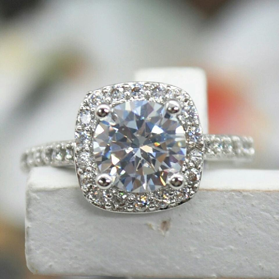 9.2.5 Size 4 5 6 7 8 Engagement Cz S925 Sterling Silver 1.5 Carat ...