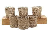 96 Burlap Glass Votive Holders Candle Holders