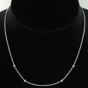 Aaron Basha Aaron Basha 16 Barrel Necklace Stations 0.16cts Diamonds 18k W Gold