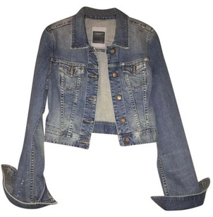 Abercrombie & Fitch Denim Cropped Womens Jean Jacket
