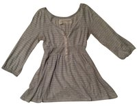 Abercrombie & Fitch Empire Waist Jersey Casual Top Light Heather Grey