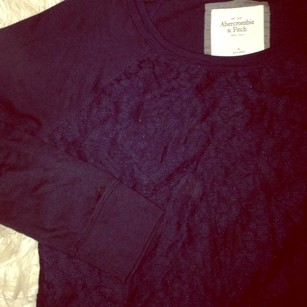 Abercrombie & Fitch Lace Sweatshirt Comfy Sweater