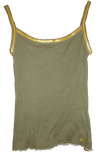 Abercrombie & Fitch Top Khaki Green / Gold