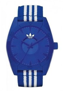 adidas Adidas Adh2662 Unisex Blue Material Strap Watch Read Description