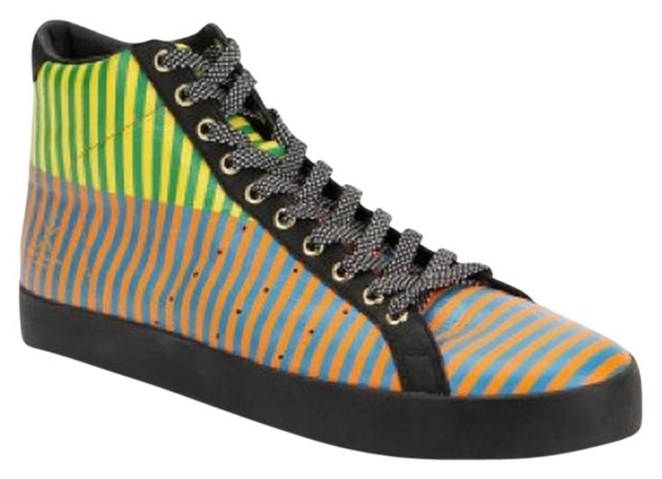 Adidas X Opening Ceremony Rod Laver Striped Hi-Top