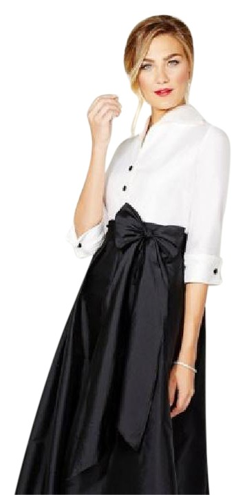 Adrianna papell black and white dresses