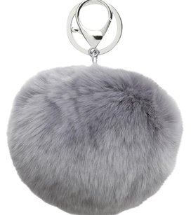 Adrienne Landau Rabbit Fur Pom-Pom Key Ring