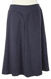 Adrienne Vittadini Womens Below Knee Career Polyes Skirt Gray