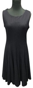 Adrienne Vittadini short dress Navy Poly Pleated Sleeveless Formal Knee Length 229a on Tradesy