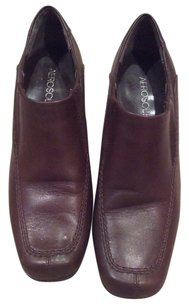 Aerosoles Casual Comfortable Slip-on Leather Business Brown Wedges