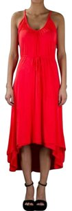 Red Maxi Dress by AG Adriano Goldschmied Sleeveless Hi Lo Asymmetrical