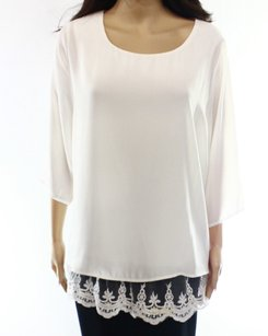 AGB 100% Polyester 3/4 Sleeve Top