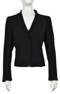 agnès b. Agnes B Womens Black Blazer Solid Long Sleeve Career Jacket Wtw