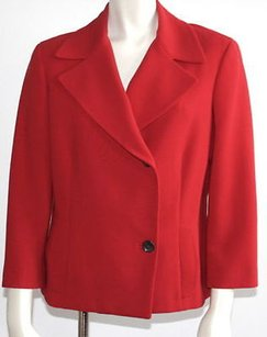 Agnona Silk Double Red Jacket
