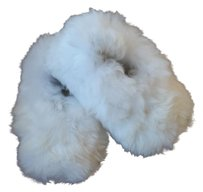 Agroinca PPX Alpaca Fur Slippers Made In Peru White Flats