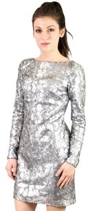 Aidan Mattox Sequin Party Metallic Sheath Dress