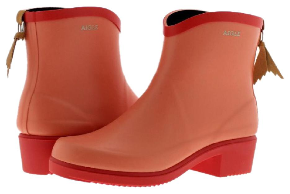 Aigle Miss Juliette Bottillon Papaya Womens Boots